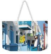 Colorful Mykonos Weekender Tote Bag