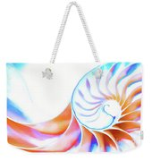 Colorful Nautilus Weekender Tote Bag