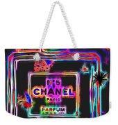 Colorful Neon Chanel Five  Weekender Tote Bag