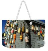 Colorful New England Buoys Weekender Tote Bag