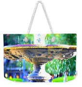 Colorful New Orleans Fountain Weekender Tote Bag