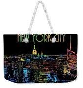 Colorful New York City Skyline Weekender Tote Bag