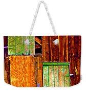 Colorful Old Barn Wood Weekender Tote Bag