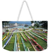 Colorful Outrigger Canoes Weekender Tote Bag