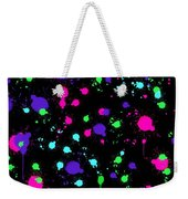 Colorful Paint Splatters Weekender Tote Bag