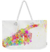 Colorful Painting Of Hand Pointing Finger Weekender Tote Bag