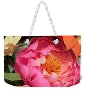 Colorful Paper Flower Blossoms  Weekender Tote Bag