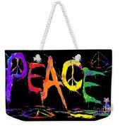 Colorful Peace Cat Weekender Tote Bag
