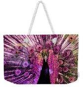 Colorful Peacock Weekender Tote Bag