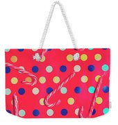 Colorful Pepermint Candy Canes Weekender Tote Bag