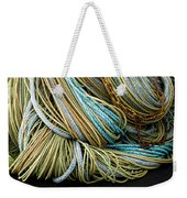 Colorful Pile Of Fishing Nets And Ropes Weekender Tote Bag