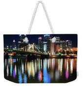 Colorful Pittsburgh Lights Weekender Tote Bag