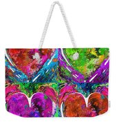 Colorful Pop Hearts Love Art By Sharon Cummings Weekender Tote Bag