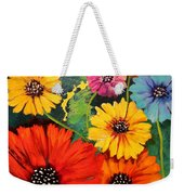 Colorful Poppy Warm No.1 Weekender Tote Bag