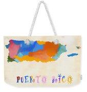 Colorful Puerto Rico Map Weekender Tote Bag