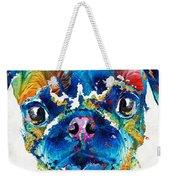 Colorful Pug Art - Smug Pug - By Sharon Cummings Weekender Tote Bag
