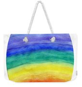 Colorful Rainbow Colored Egg Weekender Tote Bag