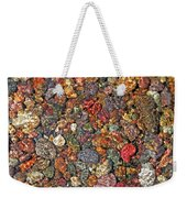 Colorful Rocks In Stream Bed Montana Weekender Tote Bag by Jennie Marie Schell