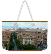 Colorful Rome Cityscape Weekender Tote Bag