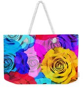 Colorful Roses Design Weekender Tote Bag