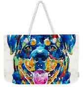 Colorful Rottie Art - Rottweiler By Sharon Cummings Weekender Tote Bag