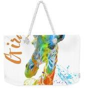 Colorful Safari Animals D Weekender Tote Bag