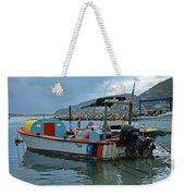 Colorful Saint Martin Power Boat Caribbean Weekender Tote Bag