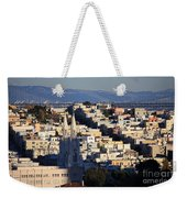 Colorful San Francisco Weekender Tote Bag
