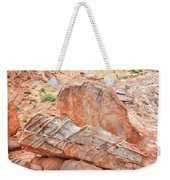 Colorful Sandstone In Wash 3 - Valley Of Fire Weekender Tote Bag