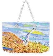 Colorful Seagull Weekender Tote Bag