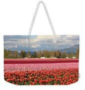 Colorful Skagit Valley Tulip Fields Panorama Weekender Tote Bag