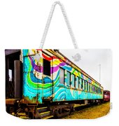 Colorful Skunk Train Passenger Car Weekender Tote Bag