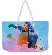 Colorful Snowboarder Paint Splatter Weekender Tote Bag