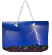 Colorful Sonoran Desert Storm Weekender Tote Bag
