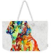 Colorful Spaniel Weekender Tote Bag