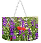 Colorful Spring Wild Flowers Weekender Tote Bag