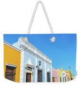 Colorful Street In Campeche, Mexico Weekender Tote Bag