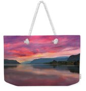 Colorful Sunrise At Columbia River Gorge Weekender Tote Bag