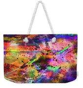 Colorful Sunset Debris  Weekender Tote Bag