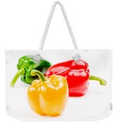 Colorful Sweet Peppers Weekender Tote Bag