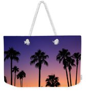 Colorful Tropical Palm Tree Sunset Weekender Tote Bag