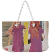 Colorful Twins Weekender Tote Bag
