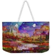 Colorful Vista Weekender Tote Bag