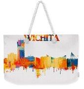 Colorful Wichita Skyline Silhouette Weekender Tote Bag