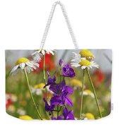 Colorful Wild Flowers Nature Scene Weekender Tote Bag
