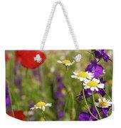 Colorful Wild Flowers Nature Spring Scene Weekender Tote Bag