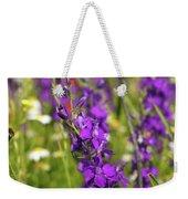 Colorful Wild Flowers Spring Scene Weekender Tote Bag