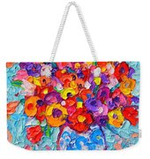 Colorful Wildflowers - Abstract Floral Art By Ana Maria Edulescu Weekender Tote Bag