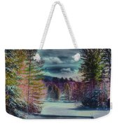 Colorful Winter Wonderland Weekender Tote Bag