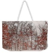Colorful Winters Day Weekender Tote Bag